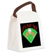 Lets Play Two Baseball Gift iPhon Canvas Lunch Bag