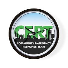 CERT-round-logo Wall Clock