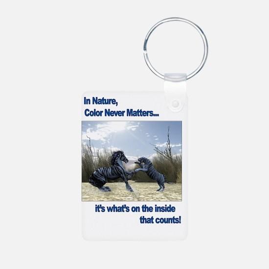 White Tiger Horse TShirt Keychains