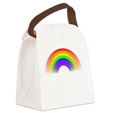 Poop Rainbows White Canvas Lunch Bag