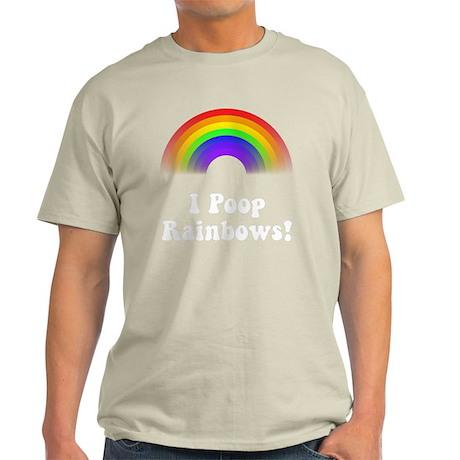 Poop Rainbows White Light T-Shirt