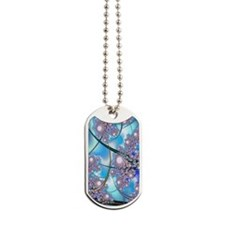 Spring Blossoms Fractal Dog Tags
