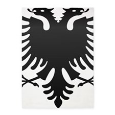 Albanian Eagle Carbon 5'x7'Area Rug