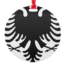 Albanian Eagle Carbon Ornament