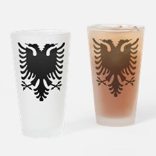 Albanian Eagle Carbon Drinking Glass