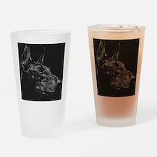 Doberman Drinking Glass