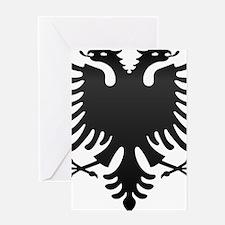 Albanian Eagle Carbon Greeting Card