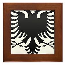 Albanian Eagle Carbon Framed Tile