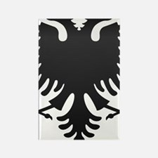 Albanian Eagle Carbon Rectangle Magnet