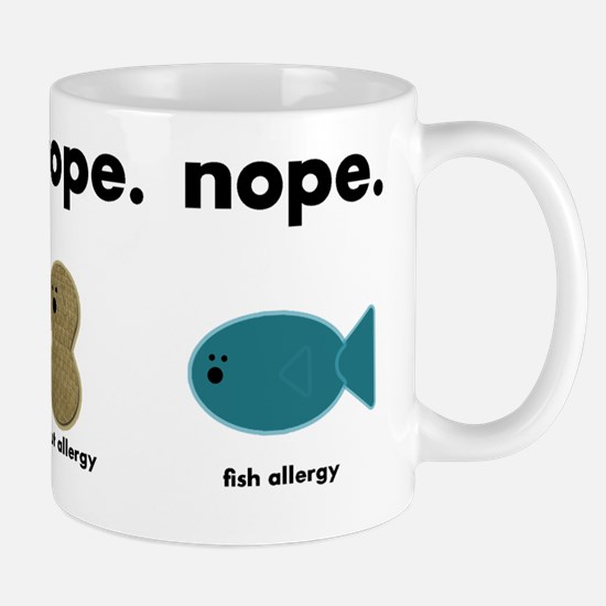 egg,nut,fish-black Mug