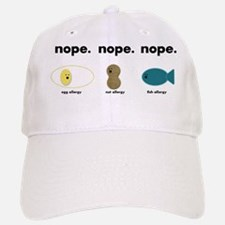 egg,nut,fish-black Baseball Baseball Cap
