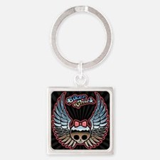 molly-chr-wing-TIL Square Keychain