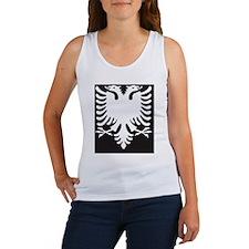 Albanian Eagle White on Black iPh Women's Tank Top