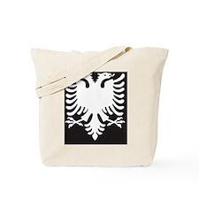 Albanian Eagle White on Black iPhone Case Tote Bag