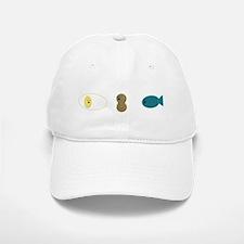 egg,nut,fish-white Baseball Baseball Cap
