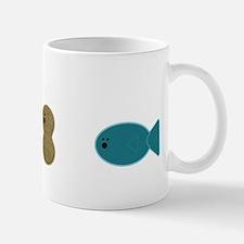 egg,nut,fish-white Mug