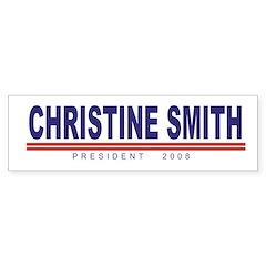 Christine Smith (simple) Bumper Bumper Sticker