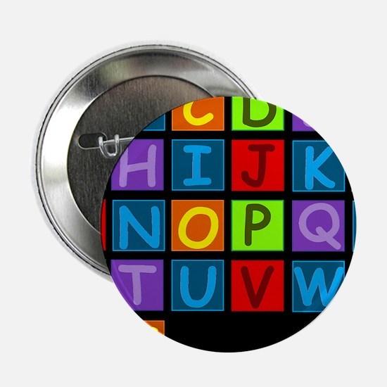 "ABC RAINBOWD 2.25"" Button"