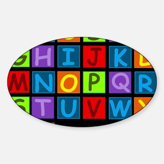 ABC RAINBOWD Sticker (Oval)