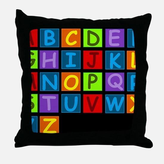 ABC RAINBOWD Throw Pillow