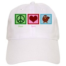 peaceloveturkeywh Baseball Cap
