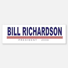Bill Richardson (simple) Bumper Bumper Bumper Sticker