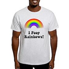 Poop Rainbows Black T-Shirt