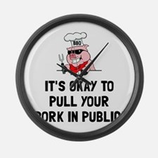BBQ Pull Pork Large Wall Clock