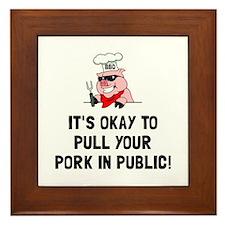 BBQ Pull Pork Framed Tile