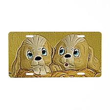 puppies Aluminum License Plate