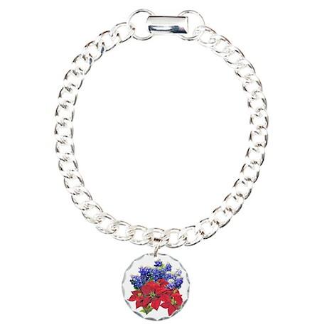 POINSIETTAS BLUEBONNETS Charm Bracelet, One Charm