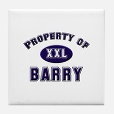 Property of barry Tile Coaster