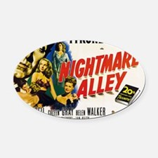 14x10_nightmare-alley Oval Car Magnet