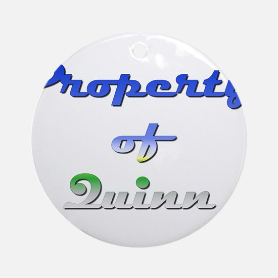 Property Of Quinn Male Round Ornament