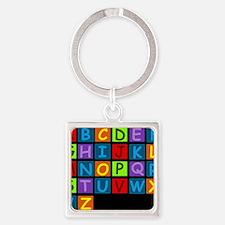 ABC RAINBOWDBG Square Keychain