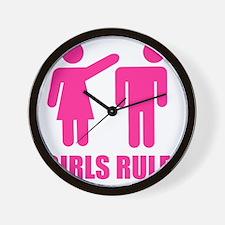 GIRLS-RULE Wall Clock