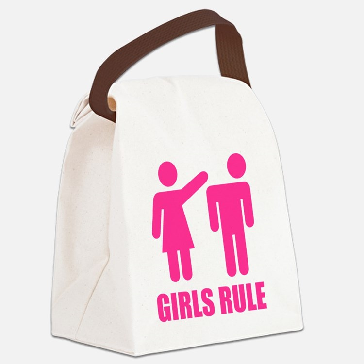GIRLS-RULE Canvas Lunch Bag