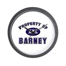 Property of barney Wall Clock