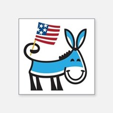 "Democrat Donkey Square Sticker 3"" x 3"""