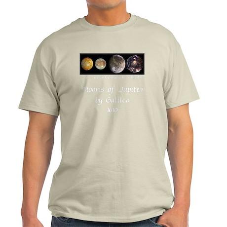 GalileanMoonsOfJupiter-whiteLetters Light T-Shirt