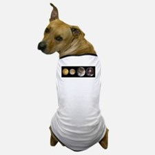 GalileanMoonsOfJupiter-whiteLetters co Dog T-Shirt