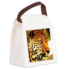 leopard Canvas Lunch Bag
