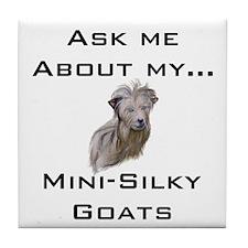 Goat Ask Mini-Silky Tile Coaster