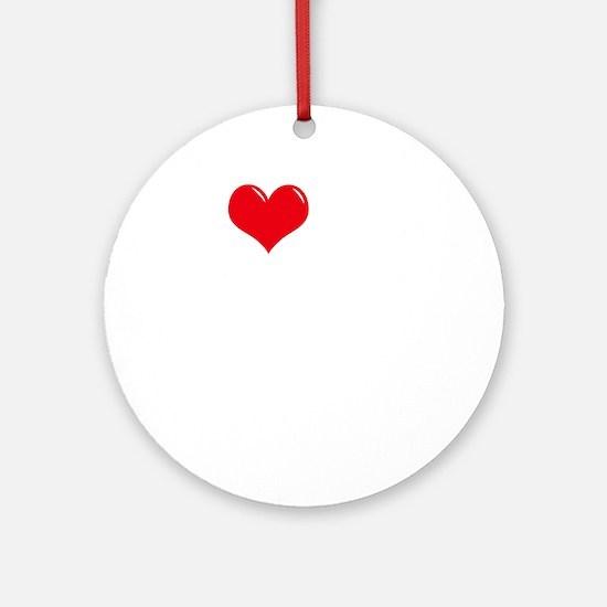 I-Love-My-Leonberger-dark Round Ornament