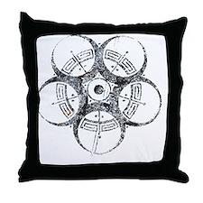 05_circle_BioMask_02 Throw Pillow