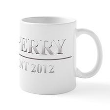 rick perry white text dark tshirt Mug