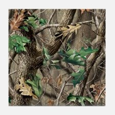 camo-swatch-hardwoods-green Tile Coaster