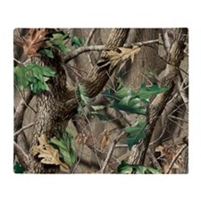 camo-swatch-hardwoods-green Throw Blanket