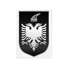 Albania State Emblem Silver 5'x7'Area Rug
