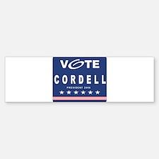Vote Cordell Bumper Bumper Bumper Sticker